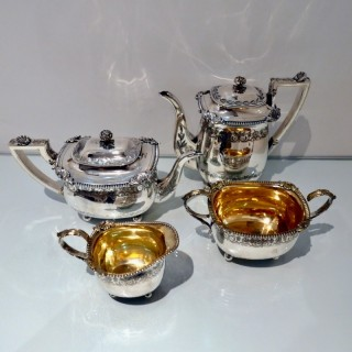 Early 19th Century Antique George III Sterling Silver Four Piece Tea & Coffee Set London 1809 Rebecca Emes & Edward Barnard