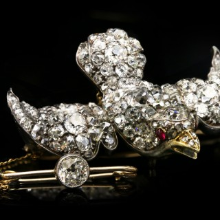 Antique diamond set 'Saint Esprit' brooch, circa 1860.