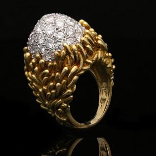 Hammerman Brothers diamond cluster ring, circa 1960.