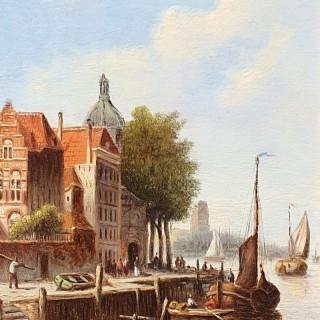 A Dutch Quayside & An Amsterdam Street (A pair)