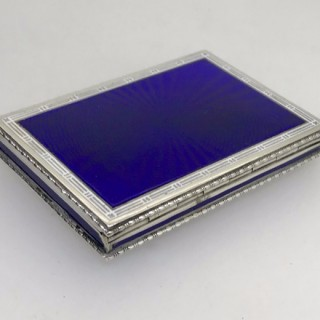 Austrian Silver and Enamel Card Case