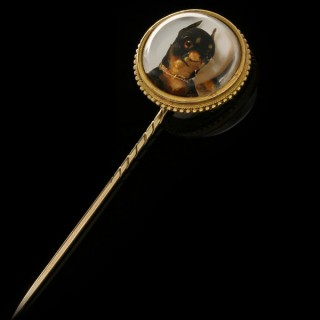 Essex crystal chihuahua pin, circa 1880.