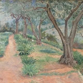 Lucien Pissarro (1863-1944), Les Oliviers, Temps Gris, Toulon