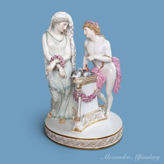 A 19th Century  Large Decorative Meissen Porcelain Group of