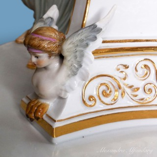 A 19th Century  Large Decorative Meissen Porcelain Group of