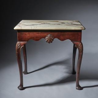 A Delightful Mid 18th Century Irish Mahogany Console Table of Small Proportions 29""