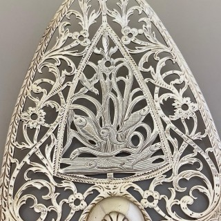 A silver fish slice by William Plummer, London 1772