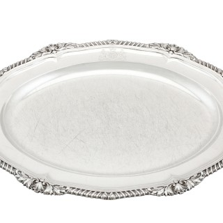 Sterling Silver Platter by Paul Storr - Antique George IV (1825)