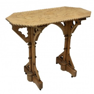 A GOTHIC REVIVAL SIDE TABLE
