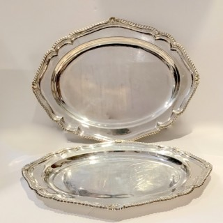 Two Large Silver Platters