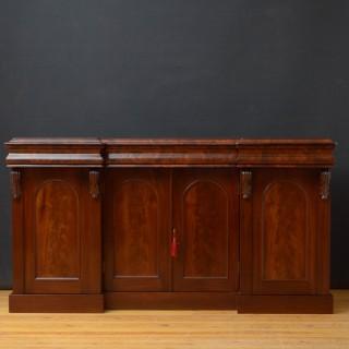Victorian Flamed Mahogany 4 Door Sideboard