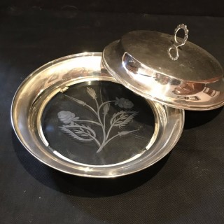 Silver Topped Muffin Dish