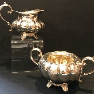 Heavy Silver Jug and Bowl