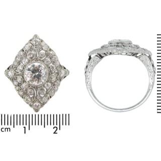 Edwardian diamond cluster ring, circa 1910.