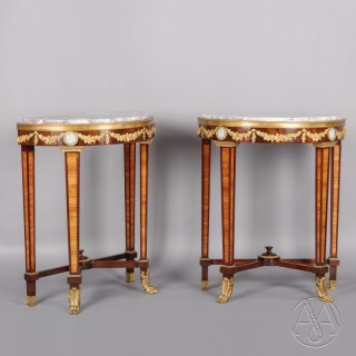 Pair of  Louis XVI Style Petites Console Tables