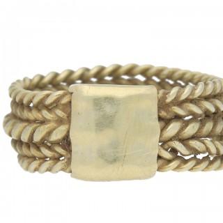 Saxon five bar braided ring, circa 6th-9th century AD.