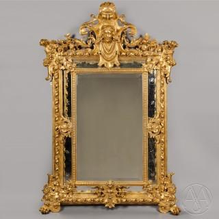 A  Louis XV Style Marginal-Frame Giltwood Mirror