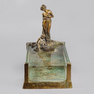 An Unusual Art Nouveau Bronze  Sculptural Aquarium