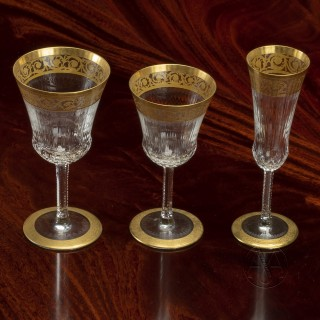 A Rare Crystal and Gilt Forty-Three Piece Table Service