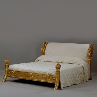 A Majestic Louis-Philippe Giltwood King Size Bed