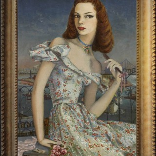 Portrait of a New York Debutante - Lucille B Harris 1944 by Karin van Leyden (1906-1977)