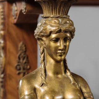 Fine Empire Style Gilt-Bronze Mounted Mahogany Table de Milieu