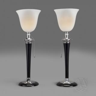 An Original Pair of Art Deco 'Mazda' Table Lamps