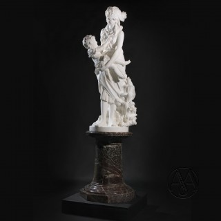 'The Finding of Moses' - An Important Florentine White Marble Figural Group