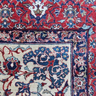 Antique Isfahan rug