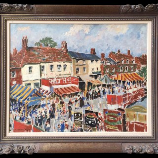 Beaconsfield Fair by Harry Greville Wood Irwin RBA (1893-1947)