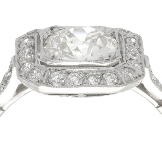 1.37 ct Diamond and Platinum Dress Ring - Antique and Contemporary