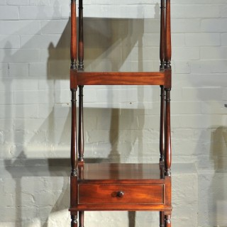 Early 19th Century Side Table, Mahogany Shelving, Regency Period What Not