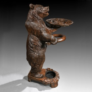 Large 19th Century Black Forest Bear Umbrella Stick Stand