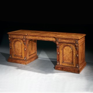 Exceptional Quality Pollard Oak Mid-19th Century Sideboard