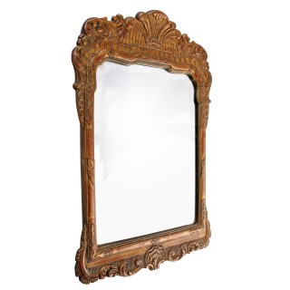 Miniature George II Style Gilt Wall Mirror
