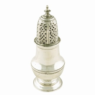 George II Sterling Silver Pepper Caster
