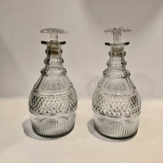 Pair of Regency 10 ' high Decanters