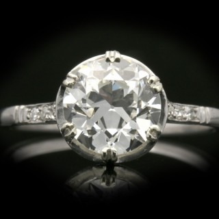 Diamond solitaire engagement ring, circa 1920.