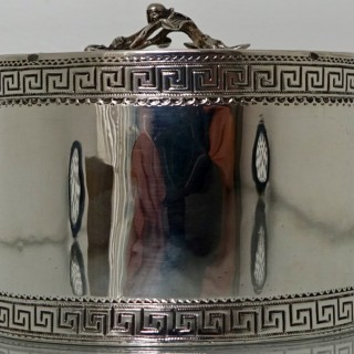 18th Century George III Antique Sterling Silver Tea Caddy London 1774 William Vincent