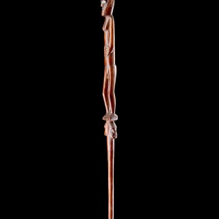 Pacific Solomon Islands Votive Staff Carved with a Spirit Figure
