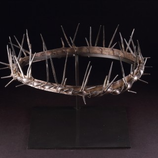 Spanish Cast Silver Holy or Passion Week 'Semana Santa' Crown of Thorns