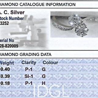 0.97ct Diamond and 14ct Yellow Gold Platinum Set Twist Ring - Antique Circa 1920
