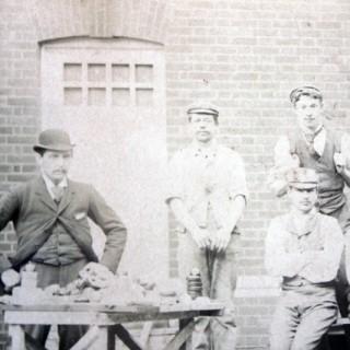 A Rare Albumen Print Photograph of Department Staff of West Sussex Lunatic Asylum, Chichester c.1900