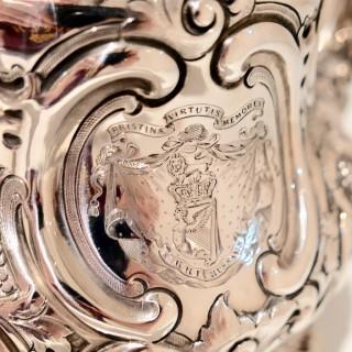 Antique Victorian Sterling Silver Teapot London 1859 Barnard Family