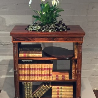 Regency Early 19th Century Rosewood Open Centre Bookcase and Jardinière
