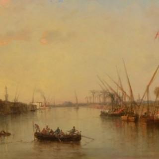 Vue prise du Pont de Zagazig a Damiette, Egypt