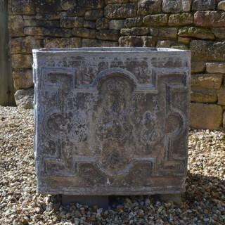 A fine early Queen Anne (1665-1714) lead corner cistern