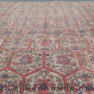 Rare antique Isfahan long rug