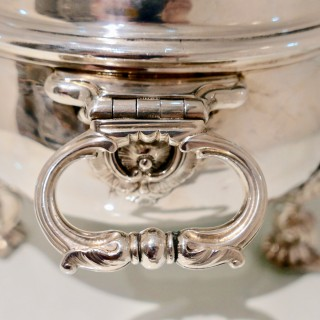 Antique George II Sterling Silver Soup Tureen London 1739 Peter Archambo