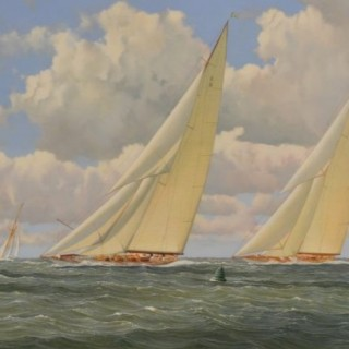Astra & Candida racing in the Solent